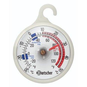 Diepvries en koelkast thermometer voor -30 tot 50 graden - rood