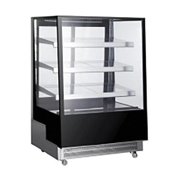 Koelvitrine | 500 liter | Glas | Met 3 glazen schappen | (H)144,5x(B)90x(D)80,5