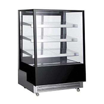Koelvitrine | 650 liter | Glas | Met 3 glazen schappen | (H)144,5x(B)120x(D)80,5