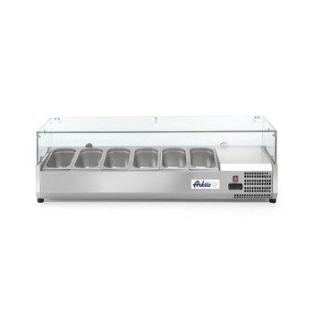 Opzetkoelvitrine Kitchen Line | 6x 1/3GN | (H)43x(B)140,5x(D)39,5