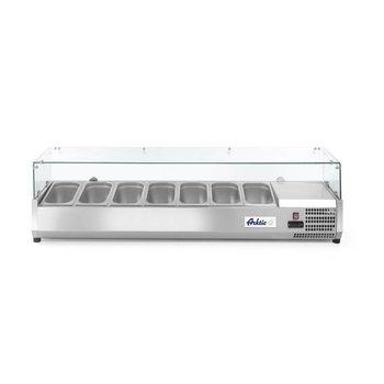 Opzetkoelvitrine Kitchen Line | 7x 1/3GN | (H)43x(B)160,5x(D)39,5
