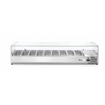 Opzetkoelvitrine Kitchen Line | 9x 1/3GN | (H)43x(B)200,6x(D)39,5