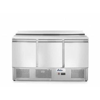Saladette Kitchen Line | 3 deurs | boven 4X 1/1GN | (H)88,8x(B)136,5x(D)70