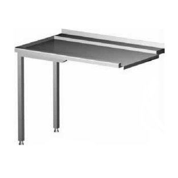 Afvoertafel voor Doorschuifvaatwasser - Links - (H)88x(B)100x(D)60