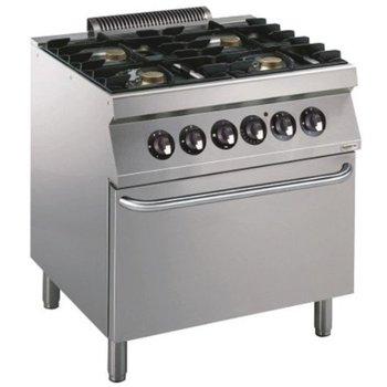 Gasfornuis met oven | 4 pits | elektrische oven