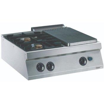 Kookplaatunit met 2 branders Pro Line | Gas | (H)25x(B)80x(D)70