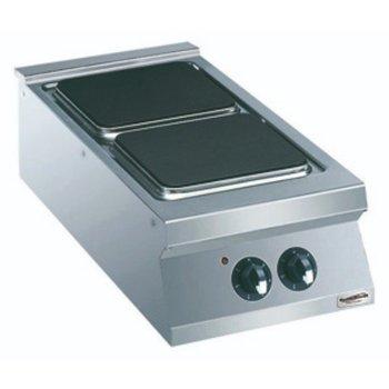 Kooktoestel Elektrisch | 2 vierkante platen | (H)25x(B)40x(D)90