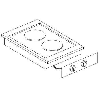 Elektrische kookunit | Drop-In | 2,6kW+1,5kW