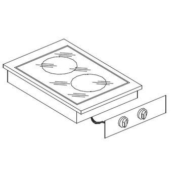 Keramische kookunit | Drop-In | 2,4kW+1,8kW