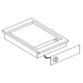 Elektrische bakplaat verchroomd glad | Drop-In | (H)18,1x(B)42,5x(D)60