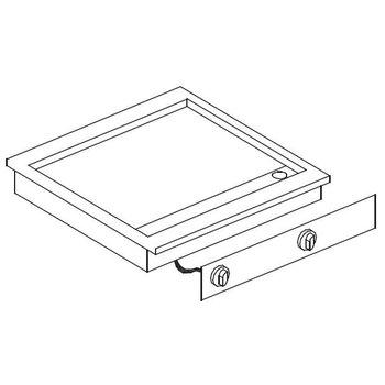 Elektrische bakplaat verchroomd glad | Drop-In | (H)18,1x(B)62,5x(D)60