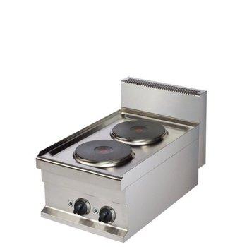 Kooktoestel Elektrisch | 2 platen | Ø22cm