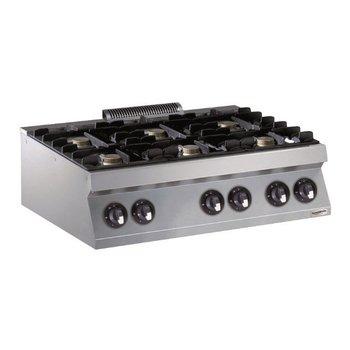 Kooktoestel Aardgas | 6 Pits | 6x5,5kw