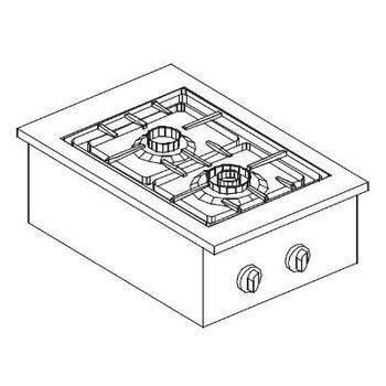 Gas kookunit | Drop-In | 3,5kW+5,5kW