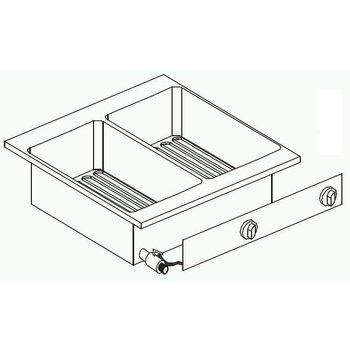 Elektrische friteuse | Drop-In | 2x10L | 11kW