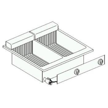 Elektrische friteuse | Drop-In | 2x10L | 14,5kW