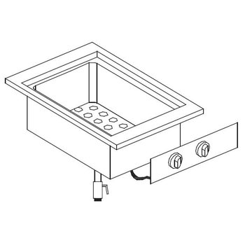 Elektrische Bain Marie | Drop-In | 1/1GN