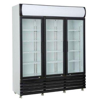 Display koelkast | Drie-deurs | Glazen deur | 1065L | (H)197,3x(B)160x(D)61cm