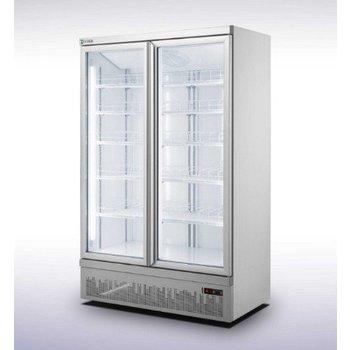 Koelkast met 2 glazen deuren | Side-by-side | 1000L | (H)199,7x(B)125,3x(D)71cm