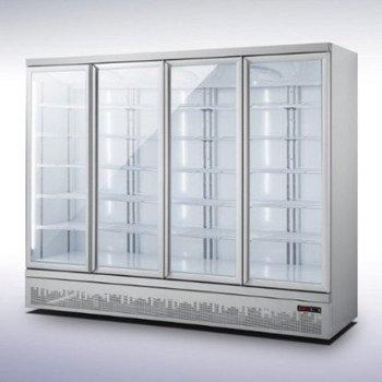 Koelkast met 4 glazen deuren | Side-by-side | 2025L | (H)199,7x(B)250,8x(D)71cm