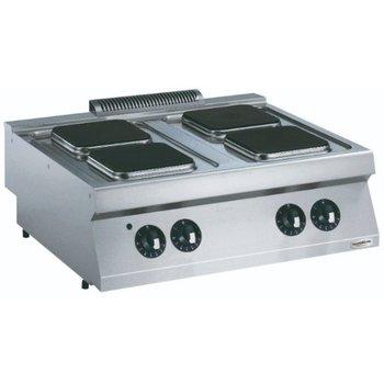 Kooktoestel Elektrisch | 4 vierkante platen | (H)25x(B)80x(D)90