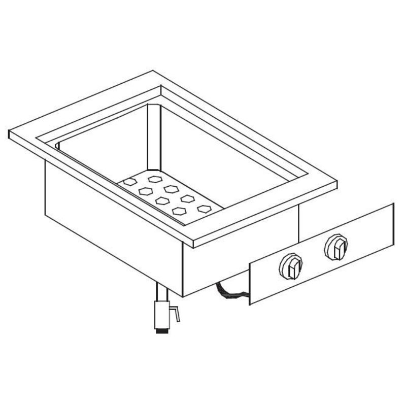 Combisteel Bain Marie Inbouw | Elektrisch | 1/1GN