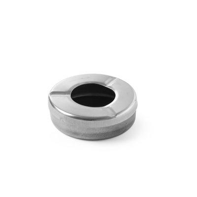 Asbak met deksel - rvs - Ø9cm - per stuk