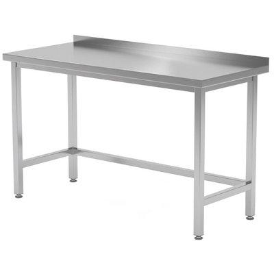 Werktafel met verstevigd onderstel en spatrand   Breedte 400-1900mm   Diepte 600-700mm   32 opties