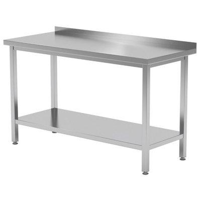 Werktafel met onderblad en spatrand   Breedte 400-1900mm   Diepte 600-700mm   32 opties