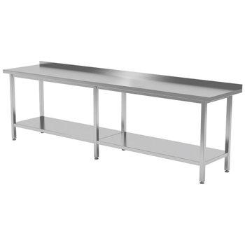 Werktafel met onderblad en spatrand | Breedte 2000-2800mm | Diepte 600-700mm | 18 opties