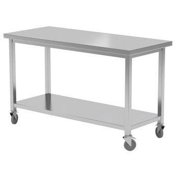 Verrijdbare werktafel met onderblad | Breedte 1000-1600mm | Diepte 600-700mm | 14 opties