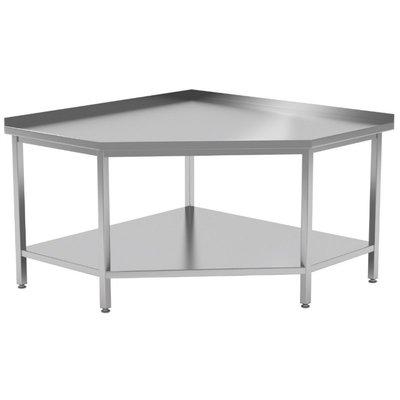 Hoekwerktafel met onderblad en spatrand| Breedte 900-1000mm | Diepte 900-1000mm | 4 opties