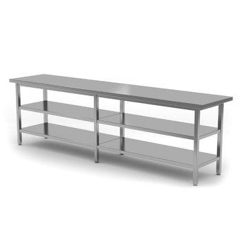 Centrale werktafel met dubbel onderblad | Breedte 2000-2800mm | Diepte 700-800mm | 18 opties