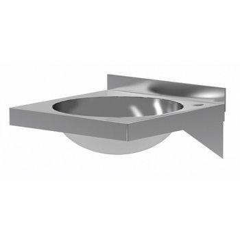 RVS wasbak inbouwmodel | Breedte 400mm | Diepte 400mm | Ronde bak Ø330mm