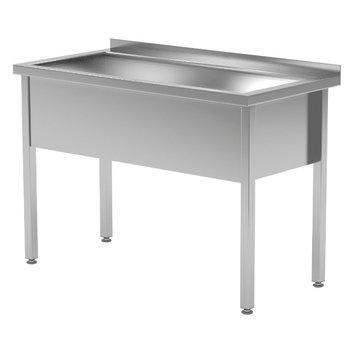 RVS wastafel met grote wasbak 300mm hoog | Breedte 600-1200 | Diepte 600-700mm | 14 opties