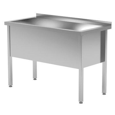 RVS wastafel met grote wasbak 400mm hoog | Breedte 600-1200 | Diepte 600-700mm | 14 opties