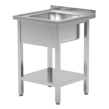 Wastafel met onderblad en spatrand | Breedte 600-700mm | Diepte 600-700mm | 4 opties