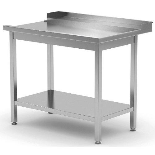 Afvoertafel met onderblad | Rechts van machine | Breedte 800-1400mm | Diepte 700-760mm | 14 opties