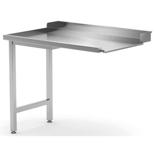 Afvoertafel | Links van machine | Breedte 600-1400mm | Diepte 700-760mm | 18 opties