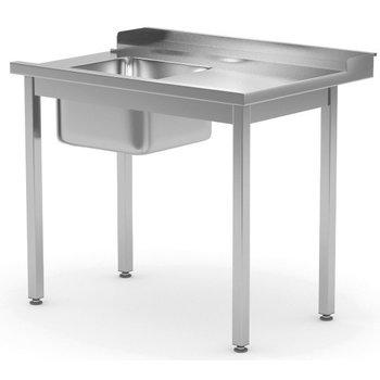 Aanvoertafel met spoelbak | Rechts van machine | Breedte 800-1400mm | Diepte 700-760mm | 14 opties
