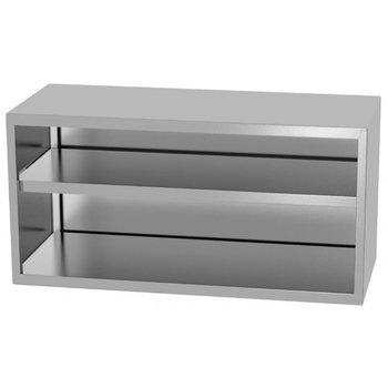 RVS wandkast open | Breedte 400-1600mm | Diepte 300-400mm | 26 opties