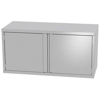 RVS wandkast met twee klapdeuren | Breedte 700-1300mm | Diepte 300-400mm | 14 opties