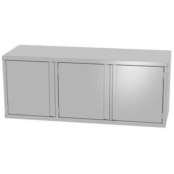 RVS wandkast met drie klapdeuren | Breedte 1400-1600mm | Diepte 300-400mm | 6 opties