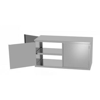 RVS kast met 4 dubbelzijdige klapdeuren | Breedte 700-1300mm | Diepte 300-400mm | 14 opties