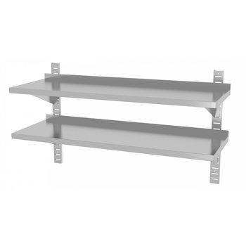 Twee wandplanken in hoogte verstelbaar | 2 dragers | Breedte 600-1500mm | Diepte 300-400mm | 20 opties