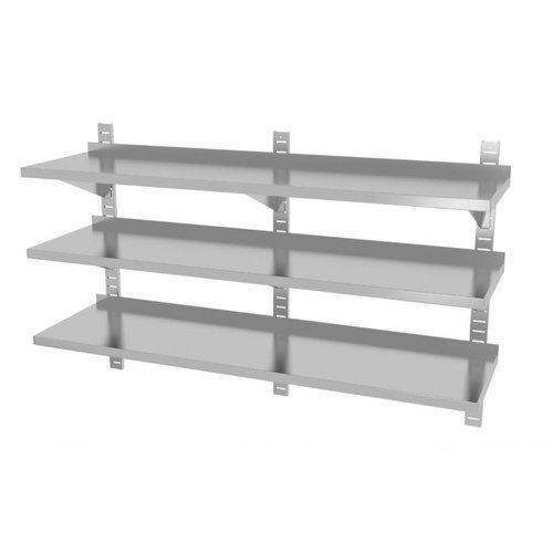 Drie wandplanken in hoogte verstelbaar | 3 dragers | Breedte 1600-2000mm | Diepte 300-400mm | 10 opties