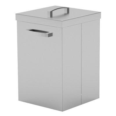 RVS afvalbak | 68-89 liter inhoud | Breedte 400-500mm | Diepte 500mm | 2 opties