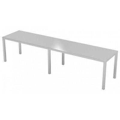 RVS etagère met 1 niveau | Breedte 1500-1900mm | Diepte 300-400mm | 10 opties