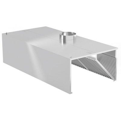Rechte Afzuigkap Wandmodel | Inclusief filters | Breedte 1000-5000mm | Diepte 700-1400mm | 328 opties