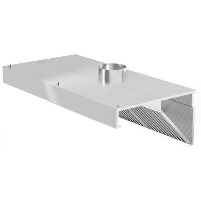 Schuine Afzuigkap Wandmodel | Inclusief filters | Breedte 1000-5000mm | Diepte 700-1400mm | 328 opties